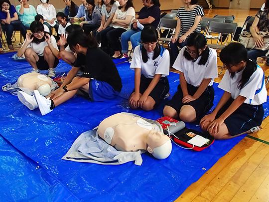 学校授業対応の救命救急法講習会